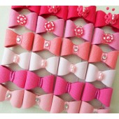 Lacinho Cor de Rosa Autocolante Para Bebê