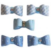 Laço Azul com Velcro Para Bebê