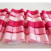 Lacinho Chanel Rosa Autocolante Para Bebê