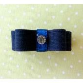 Lacinho Chanel com Velcro Para Bebê - Azul Marinho