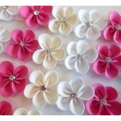 Lacinho Florzinha - Branco, Cru e Rosa