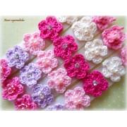 Lacinho Florzinha de Crochê - Rosa