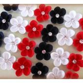 Lacinho para Colar - Florzinhas Navy