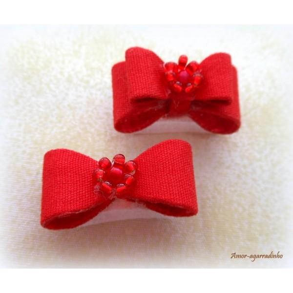 Laço Duplo Com Velcro - Vermelho