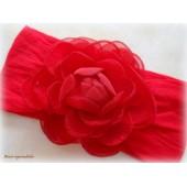 Faixa De Meia: Flor de Camélia -Vermelha