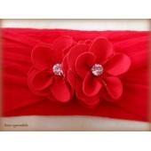 Faixa De Meia - Florzinhas - Vermelha