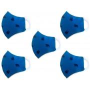 Kit Máscara de Proteção Anatômica Lavável Malha Dupla Face 100% Algodão Azul Urso