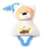 Mordedor para Bebê com Chocalho Urso Azul Zip Toys com Certificado do Inmetro