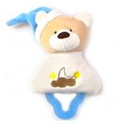 Mordedor para Bebê com Chocalho Urso Azul