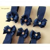 Prendedor de Chupeta Laço Borboleta Azul Marinho