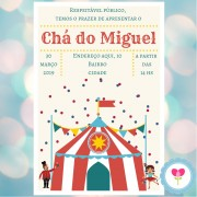 Convite Digital Whatsapp Chá de Bebê Circo