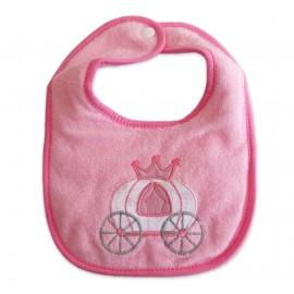 Babador Atoalhado com Botão para Bebê Carruagem