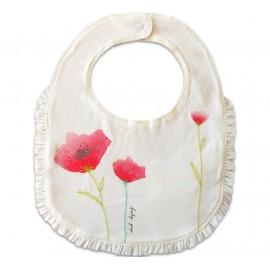 Babador Baby Gap Flores de Papoula