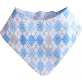 Babador Bandana Xadrez Azul para Bebê