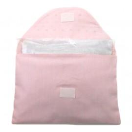 Bolsa Térmica de Ervas para Cólicas Corações Rosa