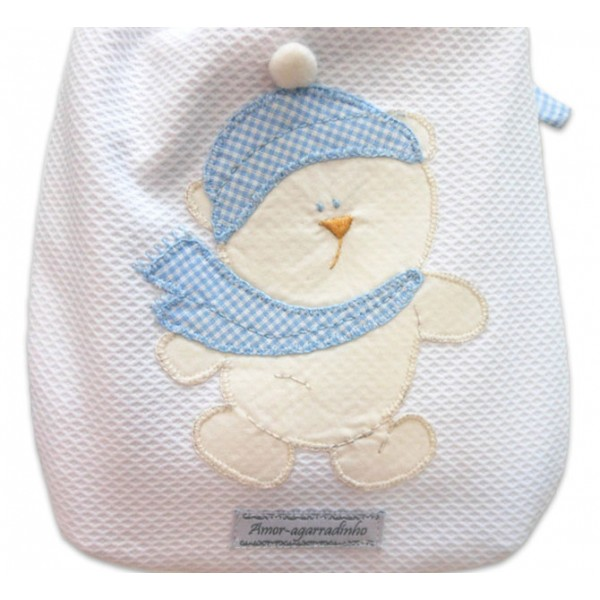 Bolsa Térmica Para Bebê Urso de Cachecol