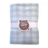 Manta Bebê Cobertor Microsoft Xadrez Azul Menino Zip Toys