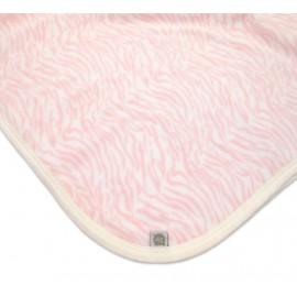 Manta Bebê Cobertor Microsoft Rosa Zebra Menina Zip Toys
