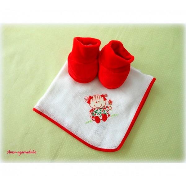 Fralda E Pantufa - Menina Vermelha