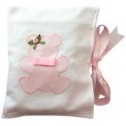Porta Fraldas para Bolsa Ursa Rosa