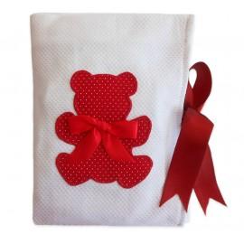 Porta Fraldas para Bolsa Ursinho Vermelho