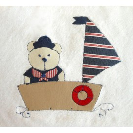 Toalha De Banho Com Capuz - Ursinho Marinheiro