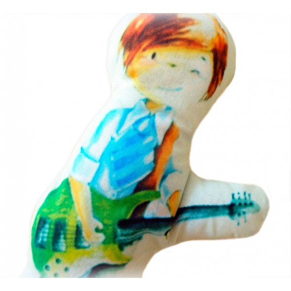 Almofadinha Menino Tocando Guitarra