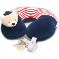Protetor de Pescoço Infantil com Prendedor de Chupeta Urso Marinheiro