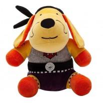 Bichinho Pelúcia Cachorro Pirata Capitão Bob Plush Antialérgico Brinquedo para Bebê Zip Toys com Certificado do Inmetro