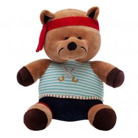 Ursinho de Pelúcia Urso Pirata Capitão Melado Plush Antialérgico Brinquedo para Bebê Zip Toys com Certificado do Inmetro