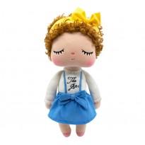 Boneca de Pano Angela Cabelo Cacheado Metoo 35 cm