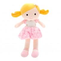 Boneca de Pano Loira Malu Menina em Tecido Antialérgico com Certificado do Inmetro