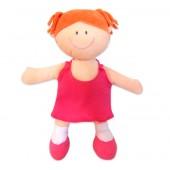 Boneca de Pano Menina Ruiva em Tecido Antialérgico com Certificado do Inmetro