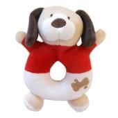 Chocalho Antialérgico para Bebê Cachorro Vermelho Zip Toys com Certificado do Inmetro