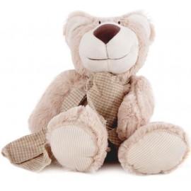 Bichinho Pelúcia Ursinho Caco Antialérgico Brinquedo para Bebê Zip Toys com Certificado do Inmetro