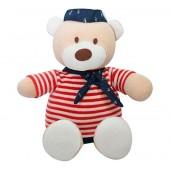 Ursinho Marinheiro em Plush Antialérgico Bebê Menino Zip Toys com Certificado do Inmetro