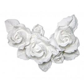 Aplique Resina Arabesco Cantoneira 5 Rosas