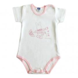 Body Manga Curta para Bebê Coelhinha Chicco
