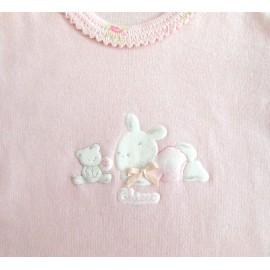 Body Manga Curta para Bebê Coelha Chicco