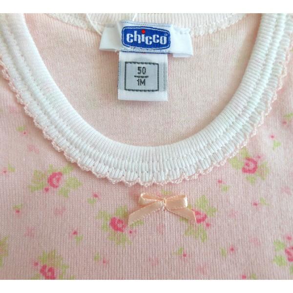 Body Bebê Chicco Regata Menina Floral Cor de Rosa 6 Meses / 12 Meses