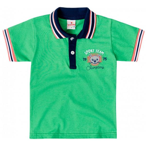c6d8b8f478385 Camiseta Gola Polo Infantil Verde Leão