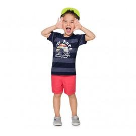 Camiseta Infantil Listrada Surf