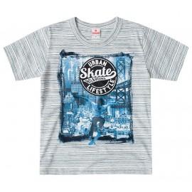 Camiseta Infantil Skate Brandili Menino 4 Anos