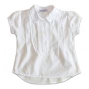 Bata Branca de Algodão com Renda para Bebê