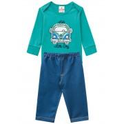 Conj. Bebê Brandili Menino Body Kombi Verde e Calça Jeans