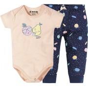 Conj. Bebê Body e Calça Frutinhas Menina Brandili Baby