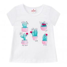 Conj. Infantil Blusa Cactus e Bermuda Babadinhos Menina Brandili 1 Ano