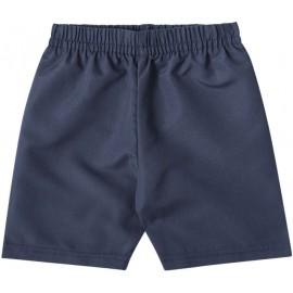 Conj. Infantil Verão Menino Brandili 1 Ano Camiseta Manga Curta Vermelha Bermuda Microfibra Azul Marinho