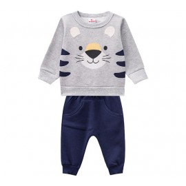 Conj. Moletom Saruel Bebê Menino Tigre