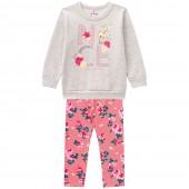 Conj. Infantil Blusão Bambi e Legging Floral Brandili Menina 3 Anos